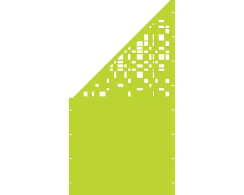 Element gard Geometrie, 90 x 180 cm,verde, deschidere stanga oblic