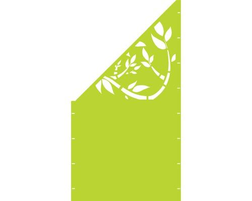 Element gard Floral, 90 x 180 cm, verde, deschidere stanga oblic