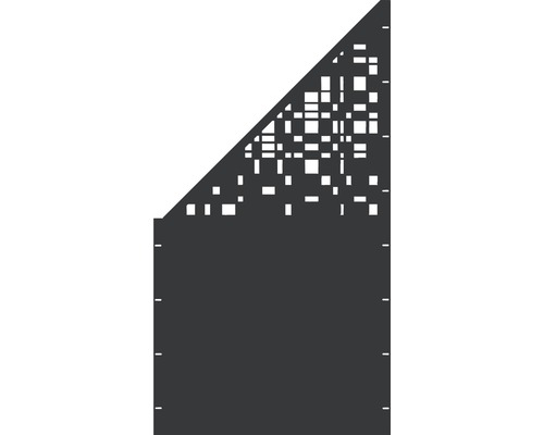 Element gard Geometrie, 90 x 180 cm, antracit, deschidere stanga