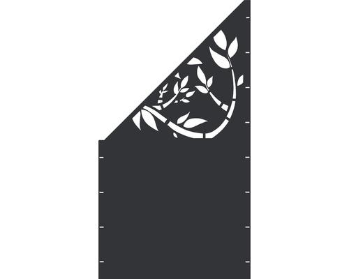 Element gard Floral, 90 x 180 cm, antracit, deschidere stanga oblic