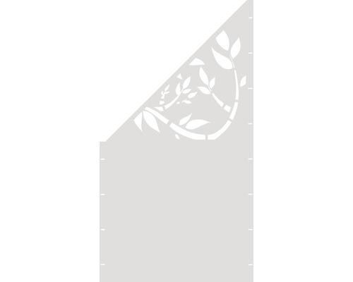 Element gard Floral, 90 x 180 cm, alb, deschidere stanga oblic