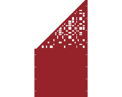 Element gard Geometrie, 90 x 180 cm, rosu, deschidere stanga oblic