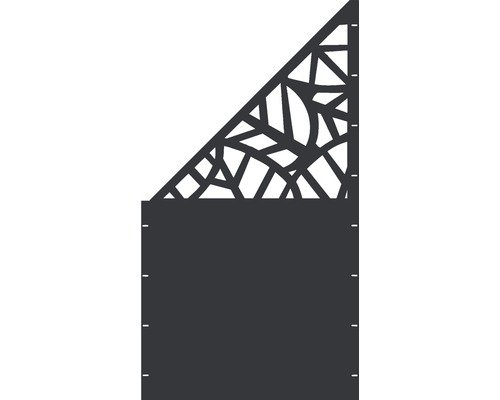 Element gard Palms, 90 x 180 cm, antracit, deschidere stanga oblic