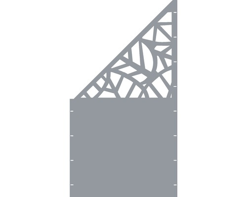 Element gard Palms, 90 x 180 cm, gri, deschidere stanga, oblic