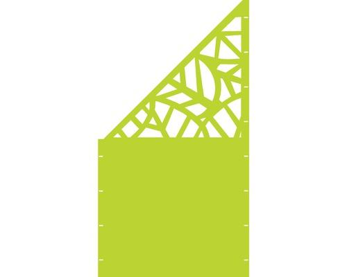 Element gard Palms, 90 x 180 cm, verde, deschidere stanga oblic
