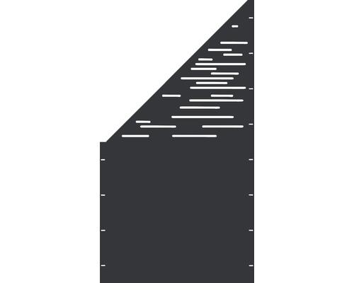 Element gard Vienna, 90 x 180 cm, antracit, deschidere stânga oblic