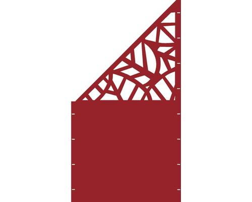 Element gard Palms, 90 x 180 cm, rosu, deschidere stanga oblic