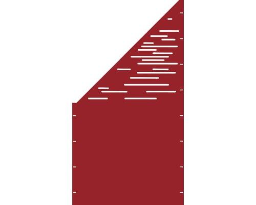 Element gard Vienna, 90 x 180 cm, rosu, deschidere stanga oblic