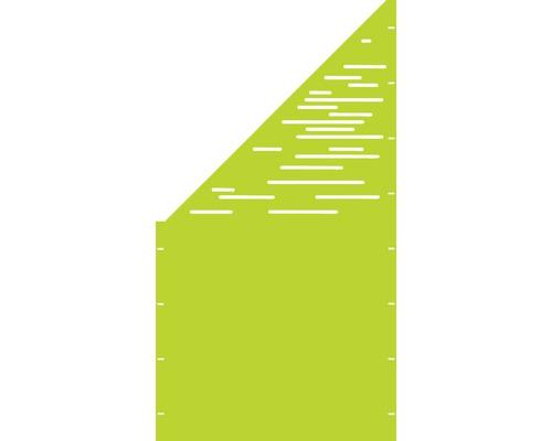 Element gard Vienna, 90 x 180 cm, verde, deschidere stanga oblic