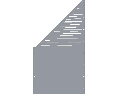 Element gard Vienna, 90 x 180 cm, gri, deschidere stanga oblic