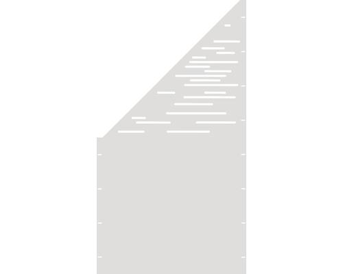 Element gard Vienna, 90 x 180 cm, alb, deschidere stanga oblic