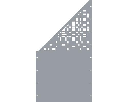 Element gard Geo, 90 x 180 cm, gri, deschidere stanga oblic
