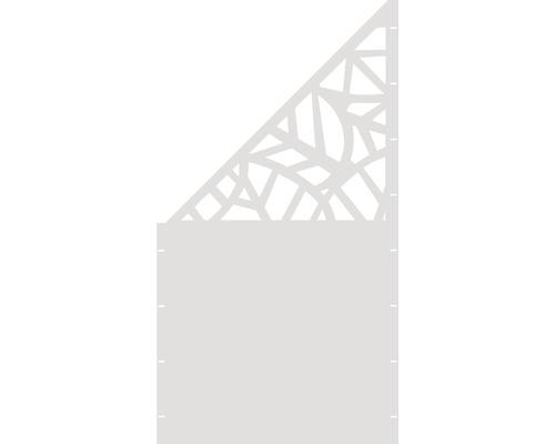 Element gard Palms, 90 x 180 cm, alb, deschidere stanga oblic
