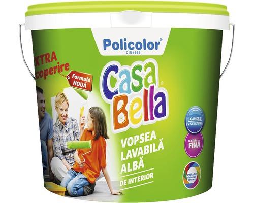 Vopsea lavabila pentru interior CasaBella alba 15 l
