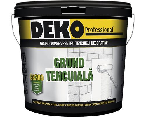 Grund vopsea pentru tencuieli decorative DEKO G8300 alb 10 l