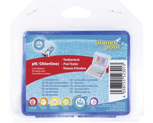 Trusa de testare pH/clor + tablete, 20 bucati