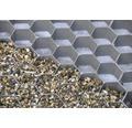 Profil fagure pentru stabilizarea pietrisului, 39,2 x 76,4 x 3,2 cm, gri