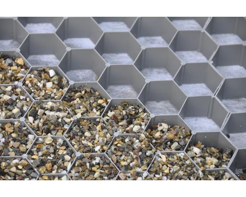 Profil fagure pentru stabilizarea pietrișului, 39,2 x 76,4 x 3,2 cm, gri