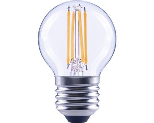 Bec LED variabil Flair E27 5W 470 lumeni, glob clar G45, lumină caldă