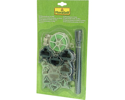 Set de suport plante FloraSelf plastic, 61 buc
