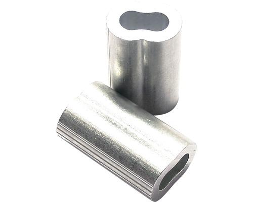 Cleme presare cablu metalic Pösamo Ø1,5x16 mm, aluminiu, 4 bucati