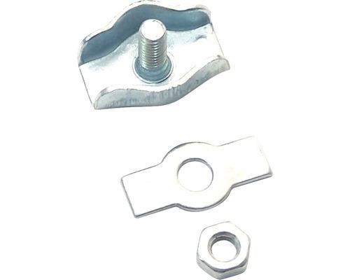 Cleme simple cabluri metalice Pösamo 3mm, otel zincat, pachet 2 bucati