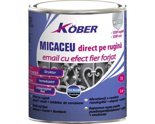 Email anticoroziv cu efect de fier forjat Köber gri inchis 0,75 l