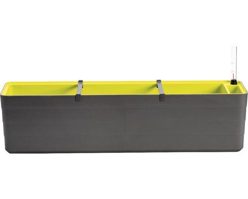 Jardiniera Lafiora cu sistem de irigare, 80x19,5x20 cm, verde-antracit