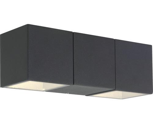 Aplica in jos cu LED integrat Daveen 2x5,6W 900 lumeni, pentru exterior IP54, antracit