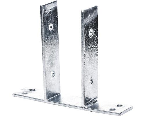 Suport stalp zincat, gri aluminiu