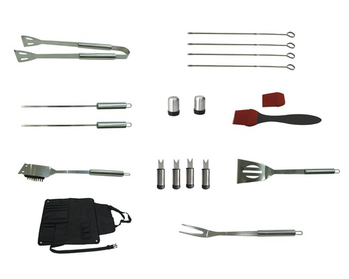 Set accesorii gratar cu sort, 11 componente