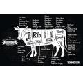 Covoras pentru grill Tenneker® Cow 95x150 cm