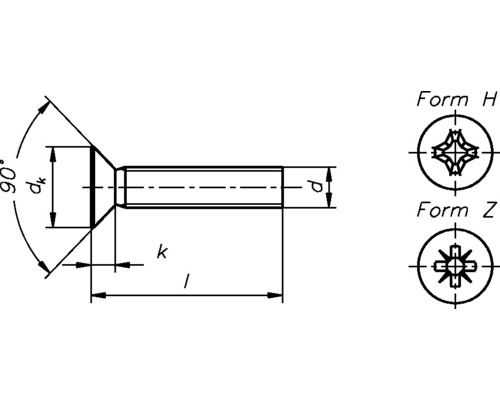 Suruburi metrice cu cap inecat cruce Dresselhaus 5x40 mm DIN965 otel zincat, 100 bucati