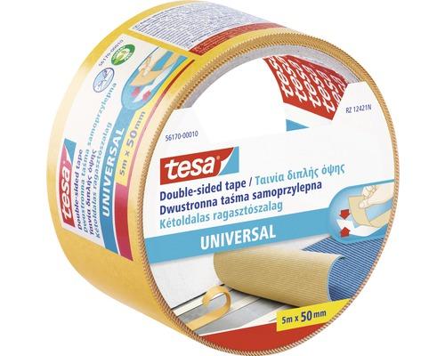 Banda dublu adeziva tesa® Universal pentru covoare, transparenta 5 m x 50 mm