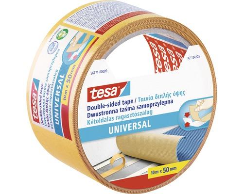 Bandă dublu adezivă tesa® Universal pentru covoare, transparentă 10 m x 50 mm