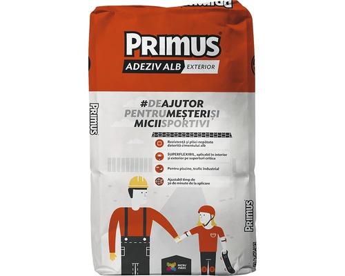 Adeziv superflexibil Primus alb pentru exterior 25 kg