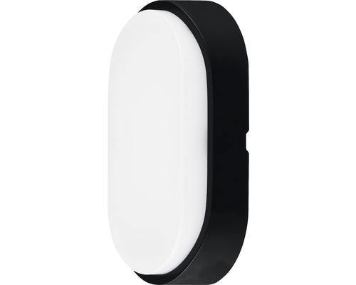 Aplică cu LED integrat Luceco 10W 700 lumeni, ovală, pentru exterior IP54, negru/alb