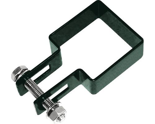 Clema pentru fixare capat gard, verde