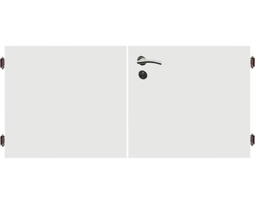 Poarta dubla 180 x 90 cm, alb