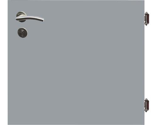 Poarta simpla 90 x 90 cm, gri, deschidere dreapta