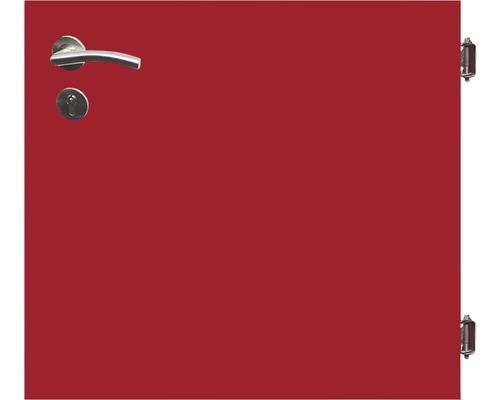 Poarta simpla 90 x 90 cm, rosu, deschidere dreapta