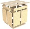 Casuta de gradina Cubo 3 cu podea 337x234 cm, natur