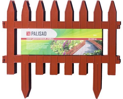 Gard decorativ 28x300 cm plastic caramiziu