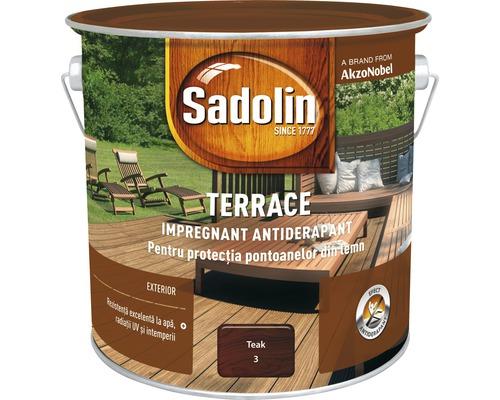 Impregnant antiderapant pentru terase Sadolin Terrace teak 2,5 l