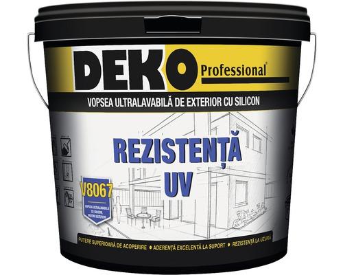 Vopsea ultralavabila cu silicon pentru exterior DEKO V8067 alba 2,5 l