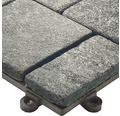 Dala din piatra naturala Florco stone Quarz, mica 30x30 cm 4 bucati, neagra