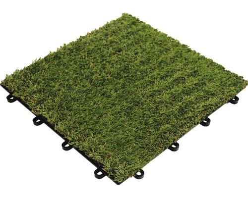 Dala gazon artificial, sistem click, 30 x 30 cm, verde