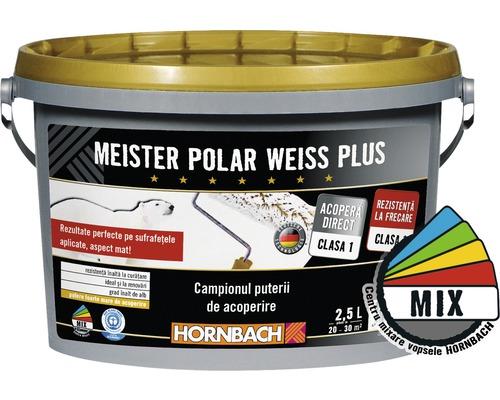 Vopsea lavabila Meister Polar Weiss Plus baza B in nuanta dorita 2,5 l