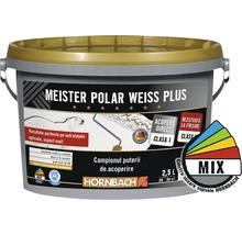 Vopsea lavabilă Meister Polar Weiss Plus bază A în nuanța dorită 2,5 l