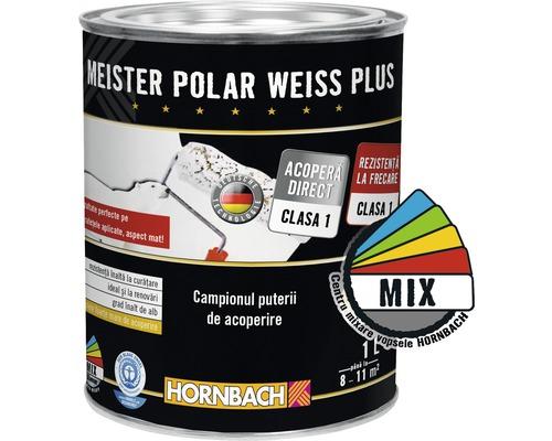 Vopsea lavabila Meister Polar Weiss Plus baza A in nuanta dorita 1 l